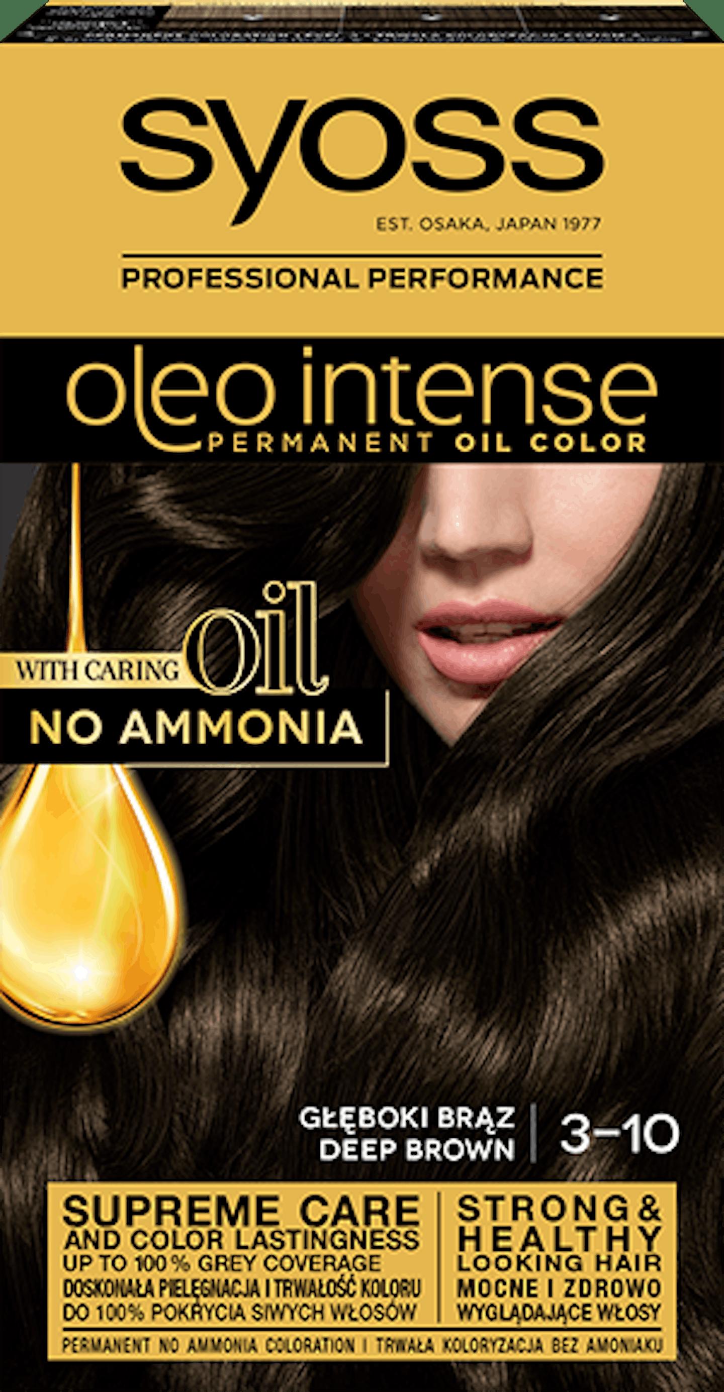 Боя за коса Syoss Oleo Intense Дълбоко кафяв 3-10
