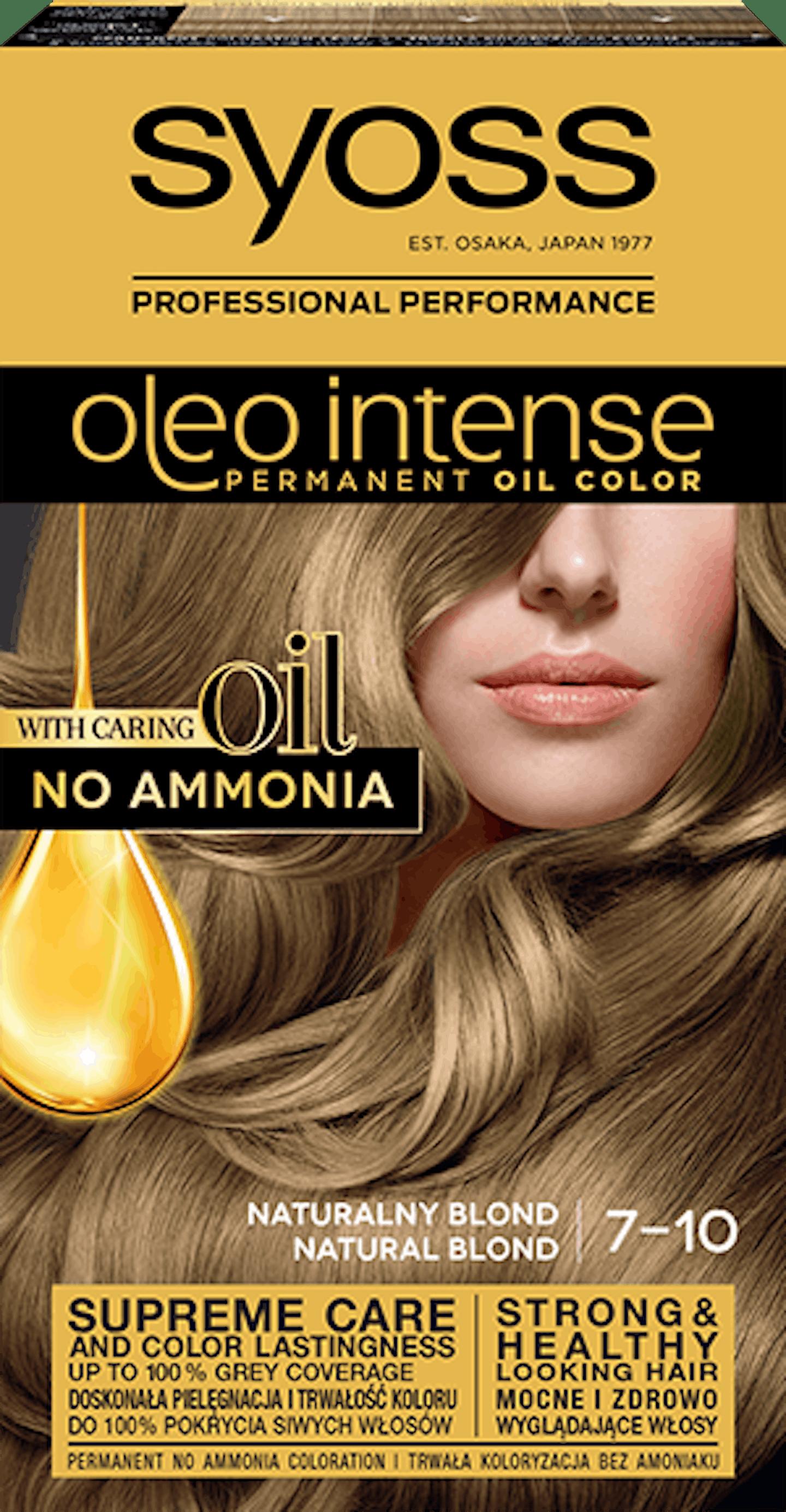 Oleo intense vopsea permanentă cu ulei - nuanta blond natural 7-10