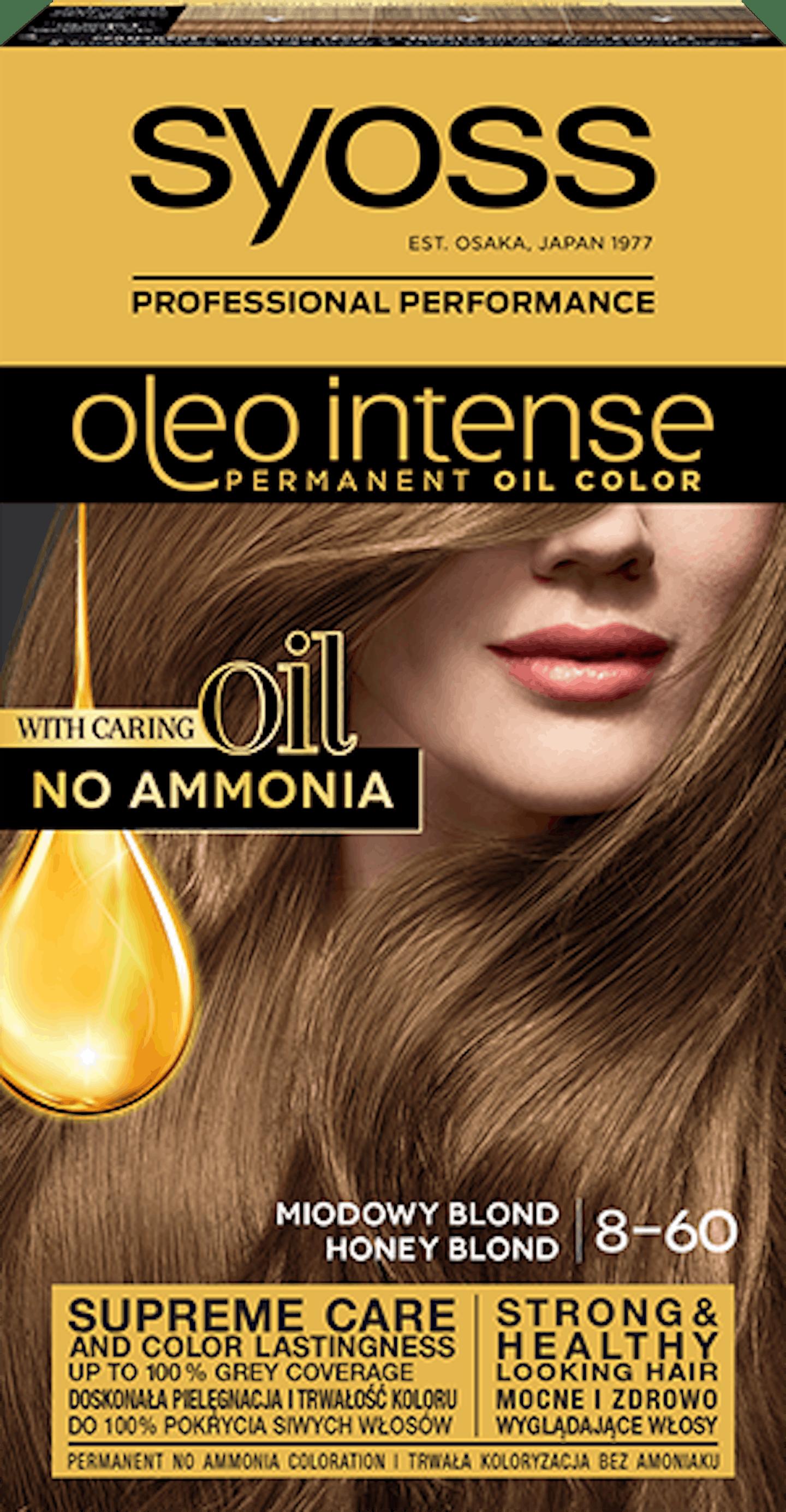 Oleo intense vopsea permanentă cu ulei - nuanta blond miere 8-60
