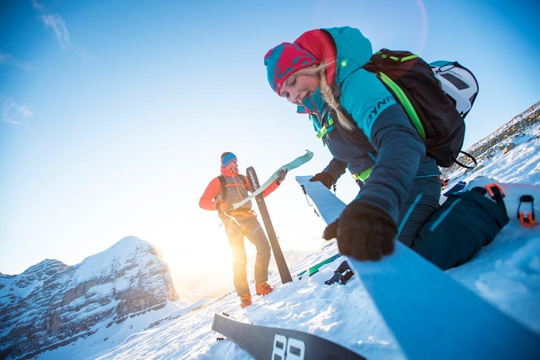 Skifelle befestigen