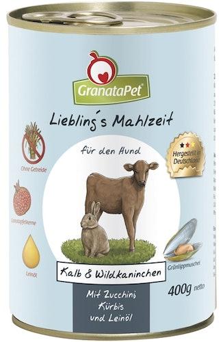 GranataPet - Nassfutter - Liebling's Mahlzeit mit Kalb & Wildkaninchen (getreidefrei)