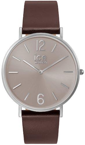 Montre ICE-WATCH Homme, Boîtier Rond, Bracelet Cuir Marron