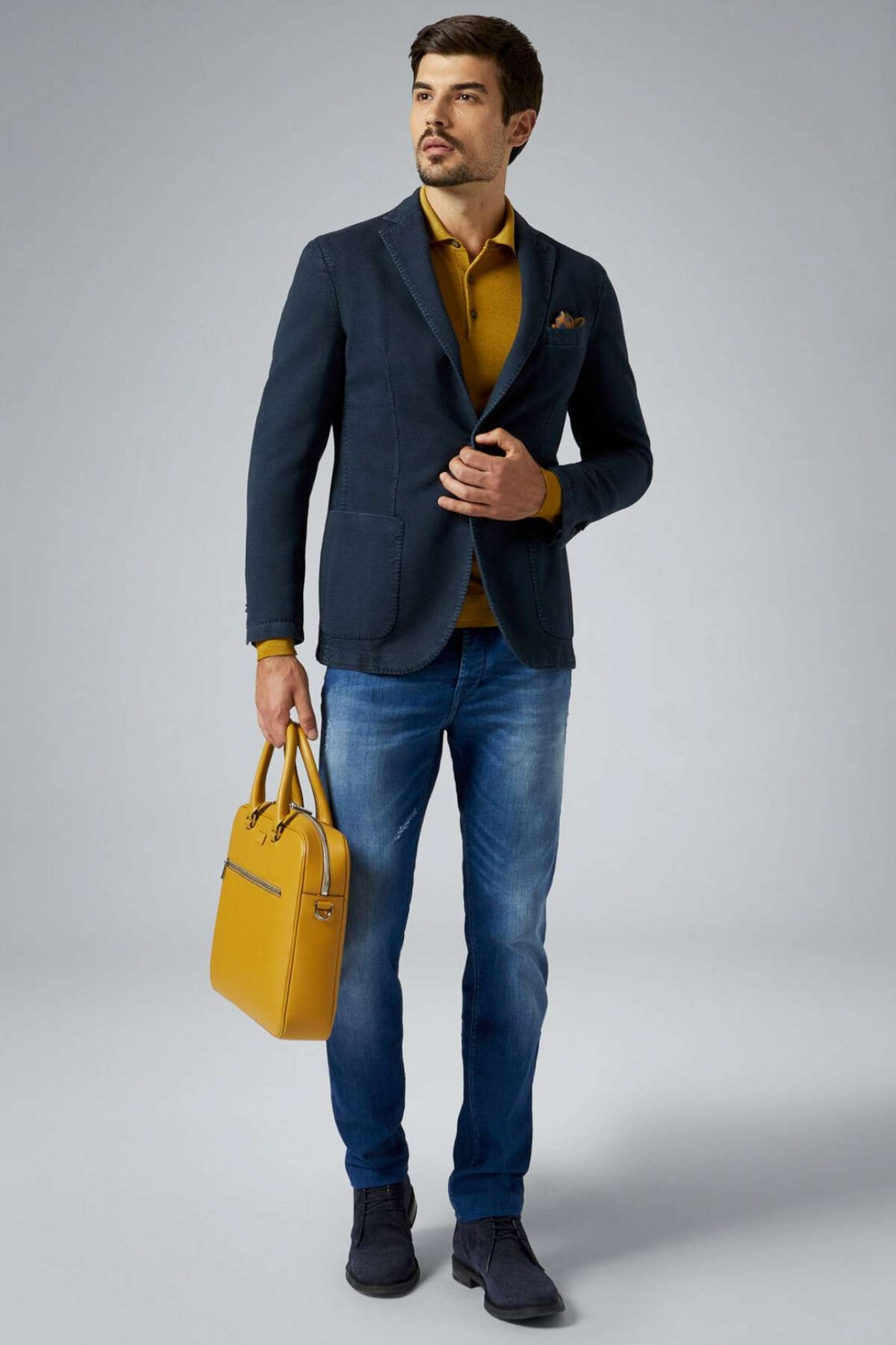 Abbigliamento casual elegante jeans e giacca Boggi Milano