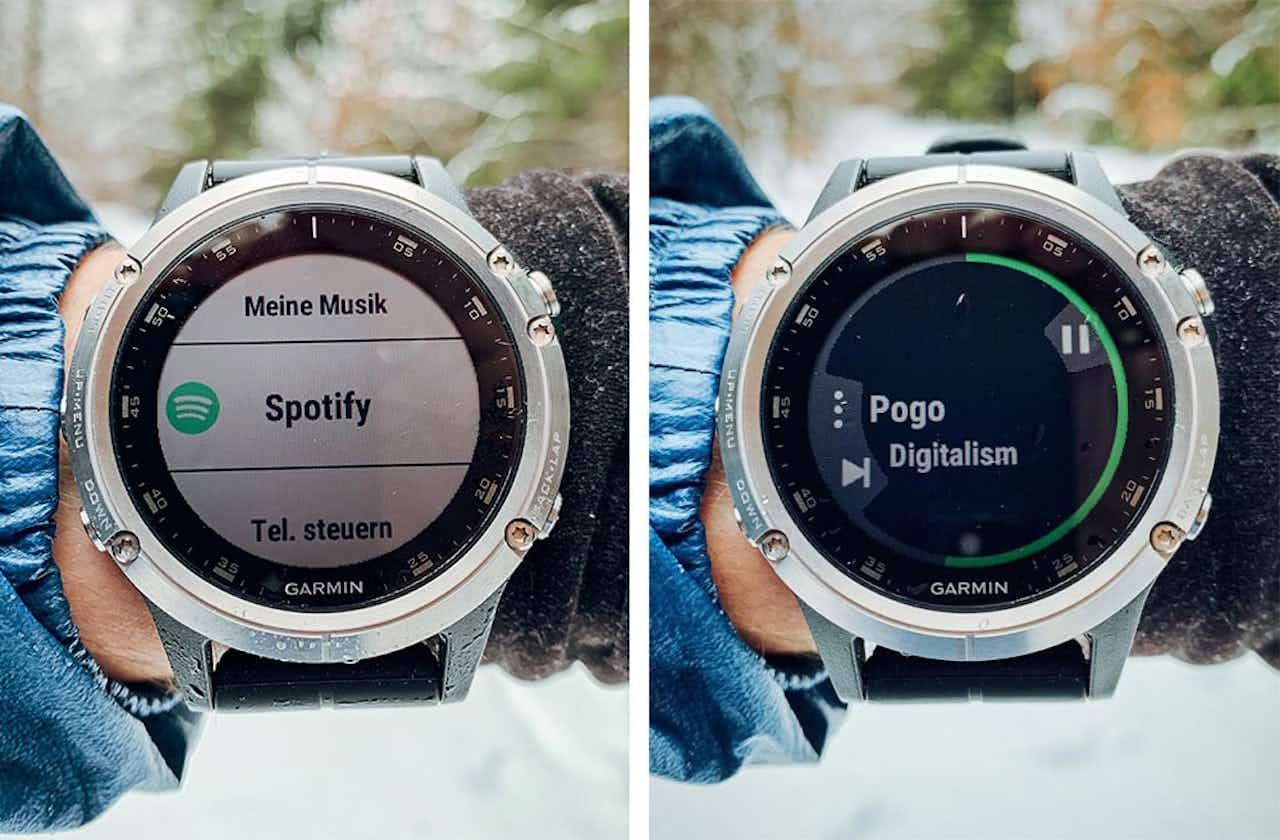 Garmin Fenix 5 Plus Musik abspielen Spotify