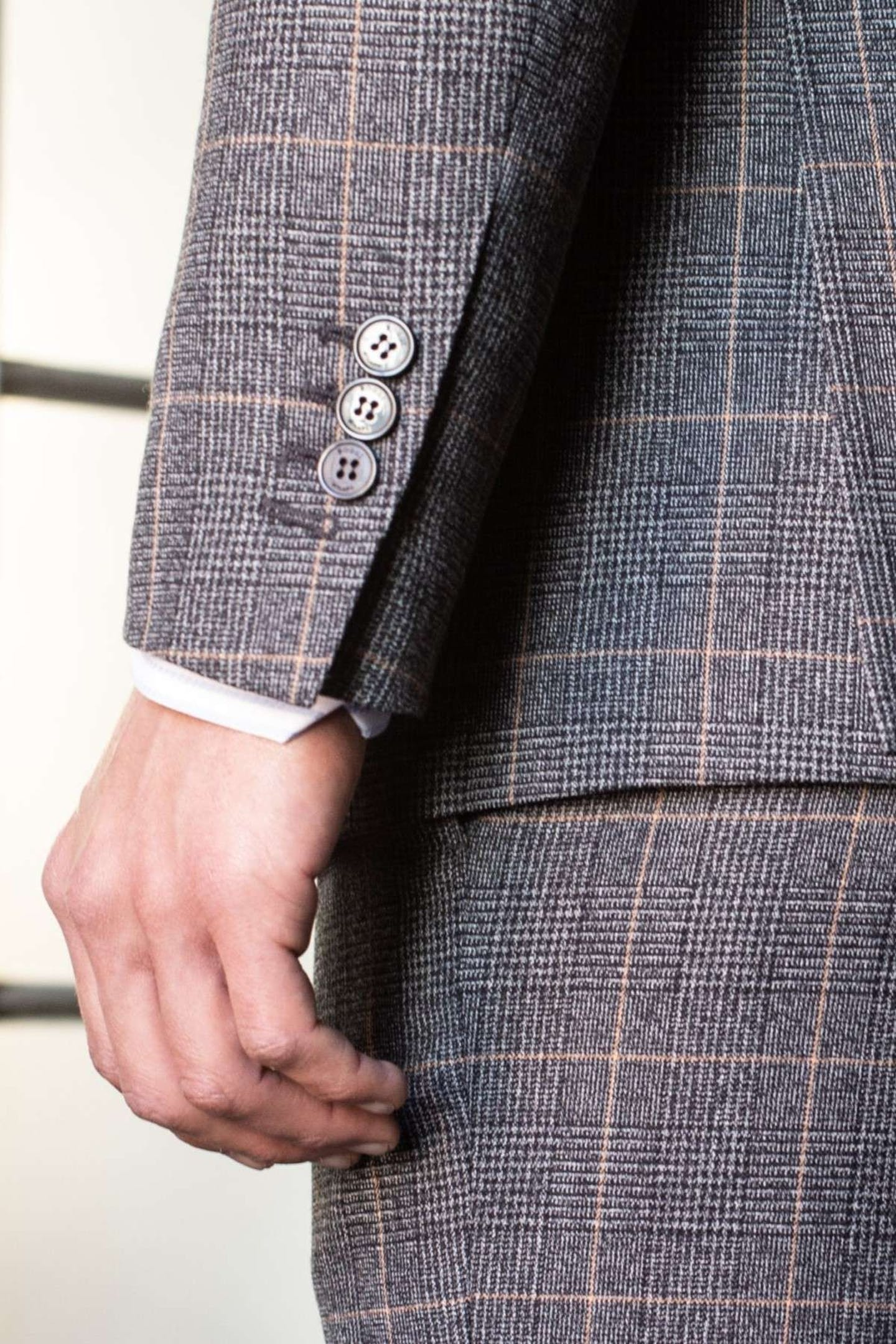 prince of wales fabric glen plaid boggi milano suit