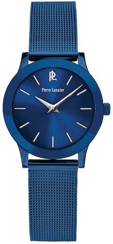 Montre PIERRE LANNIER Femme avec Boîtier Rond 28 mm et Bracelet en Acier Bleu