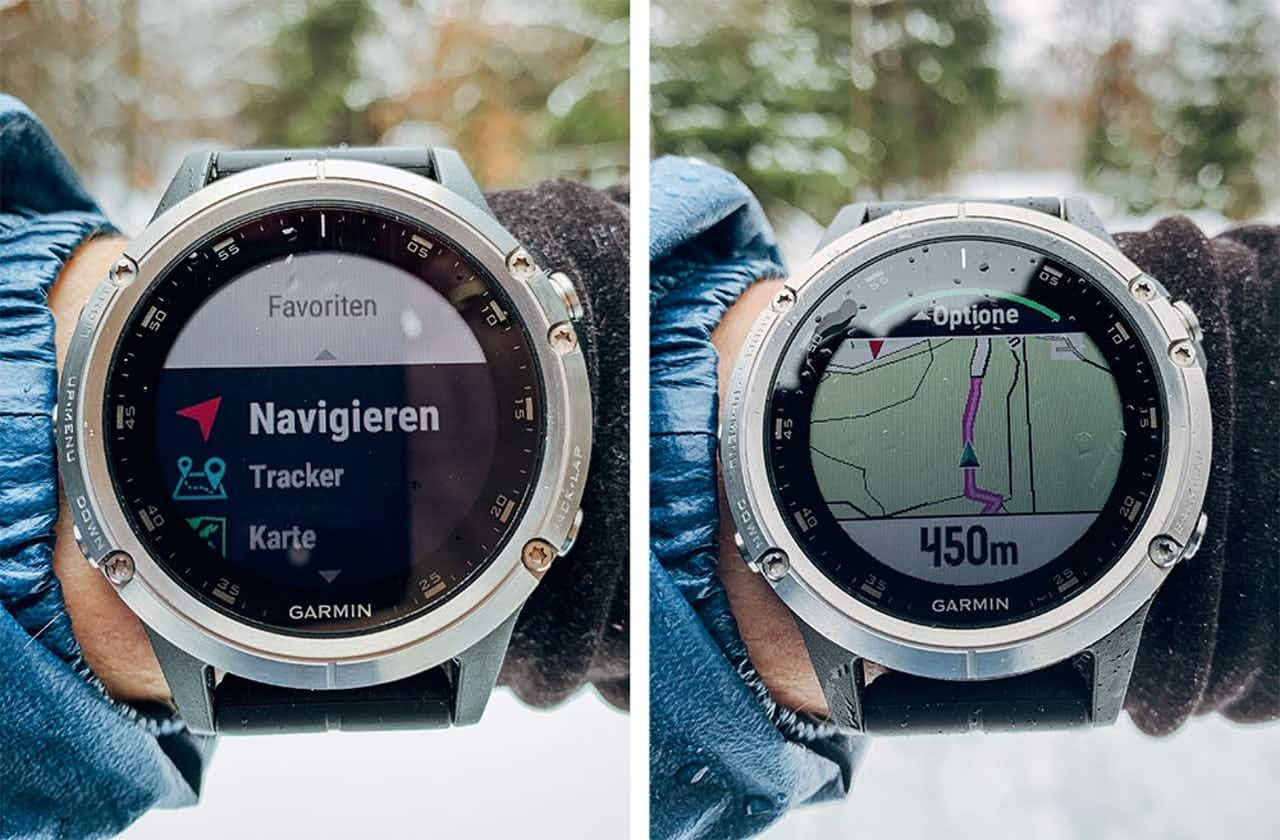Germin Fenix 5 Plus Navigieren