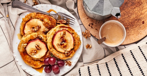 Rezept: Hafer-Pfannkuchen mit Apfel