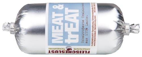 Fleischeslust - Hundesnack - Meat & Treat Trainingswurst Lachs 6 x 200g (getreidefrei)