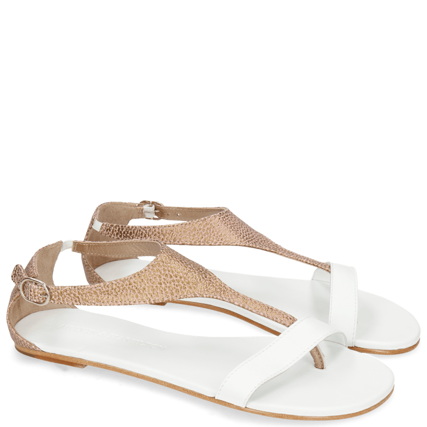 Collete 4 Grafi Bronze Nappa White