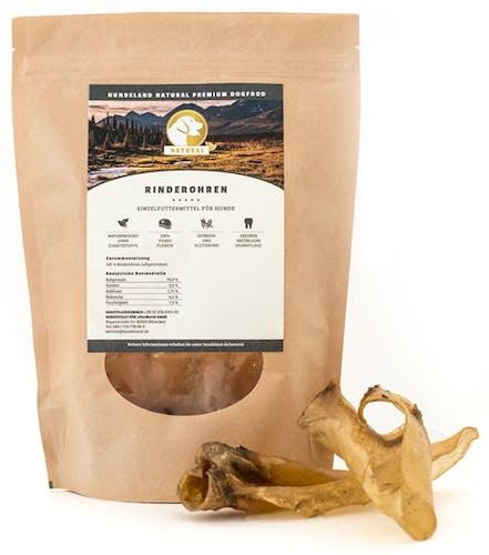 Natural - Kausnack - Rinderohren 6 Stück (getreidefrei)