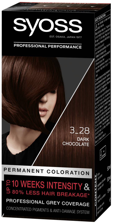 Syoss Permanent Coloration Dark Chocolate 3_28 pack shot