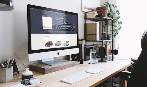 iMac mit VEHICULUM Gewerbeleasing Startseite