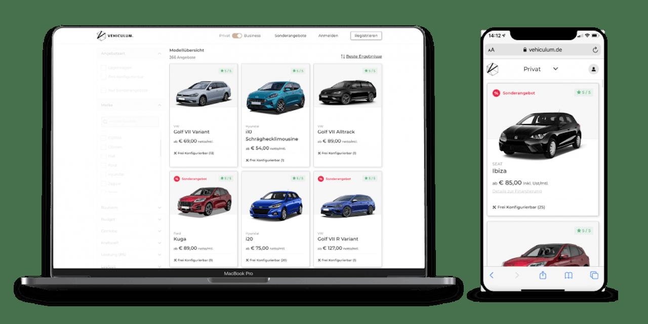 Neue Fahrzeugübersicht im VEHICULUM Webshop