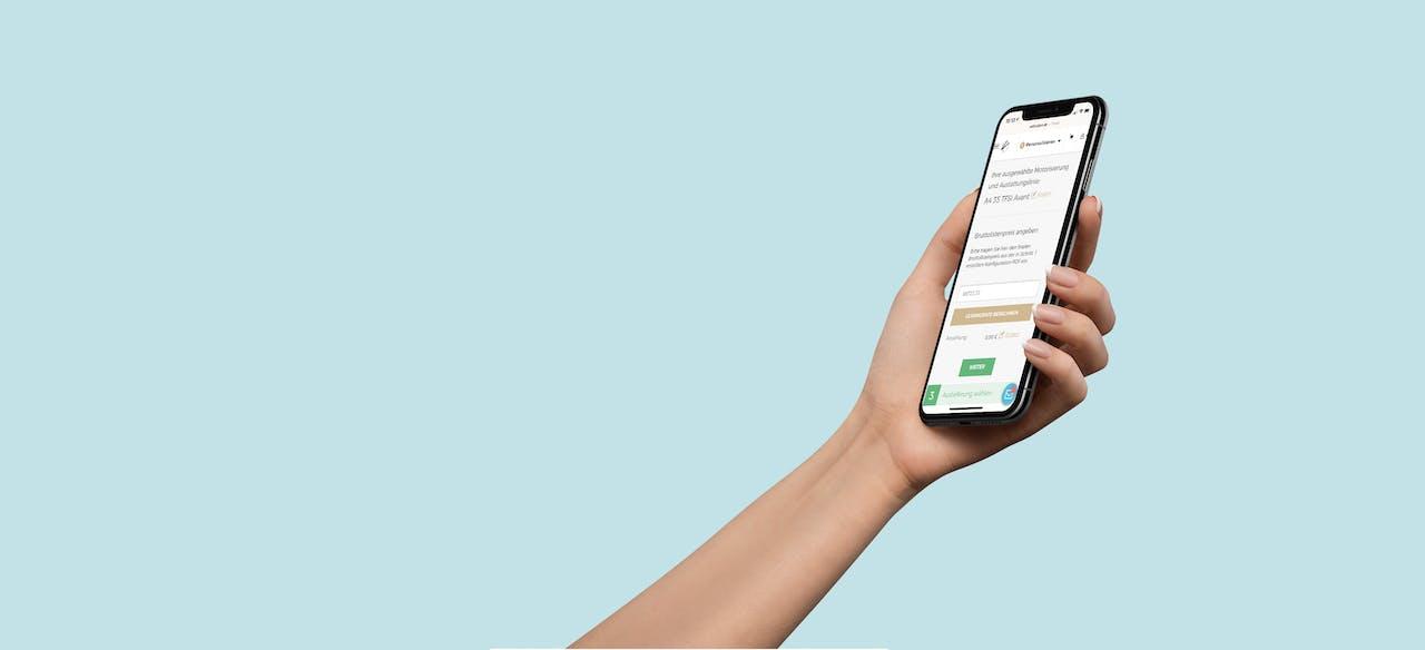 VEHICULUM Leasingrechner auf Smartphone