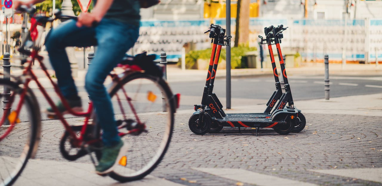E-Scooter in einer Smart City
