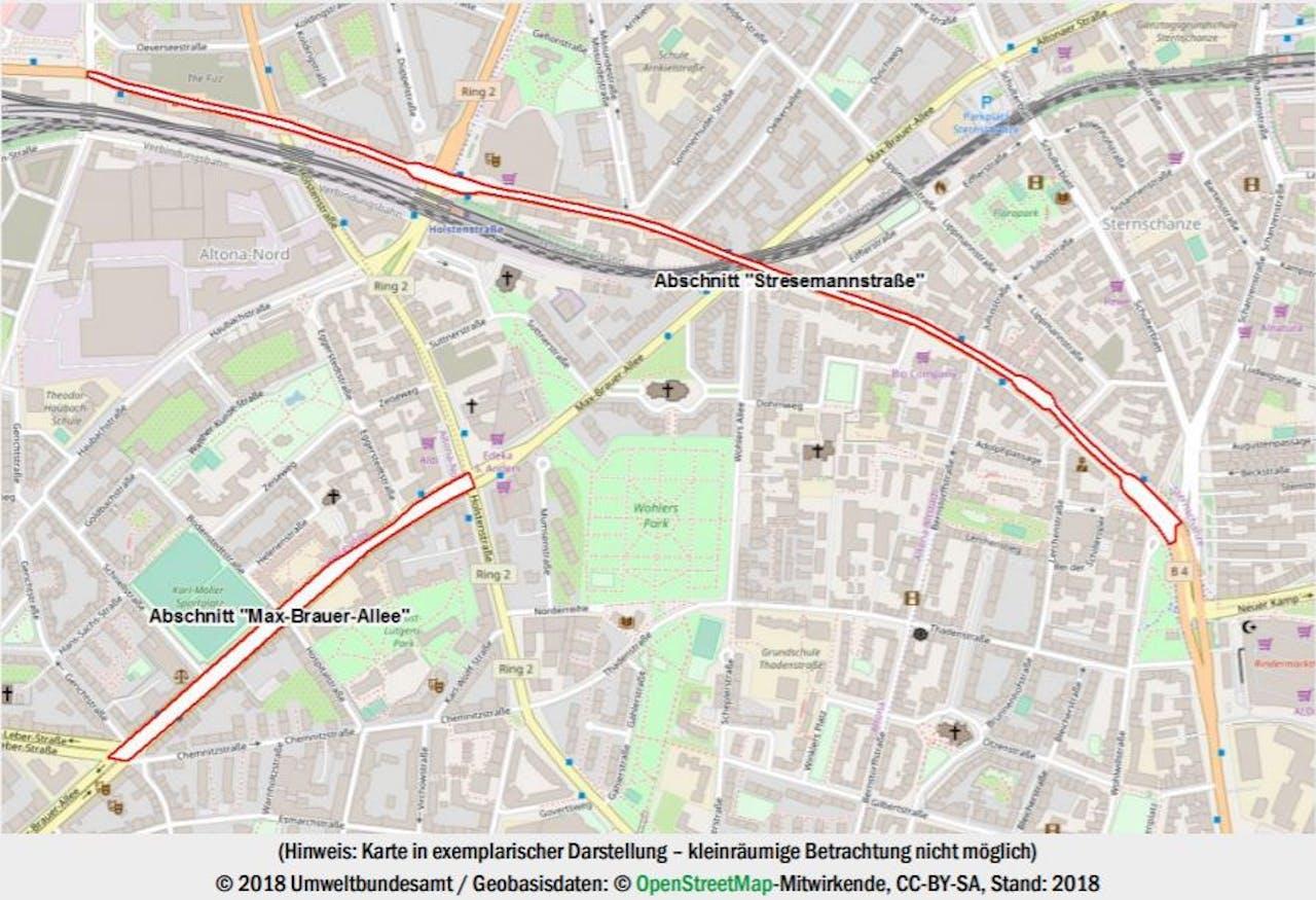 Dieselfahrverbote Hamburg Karte