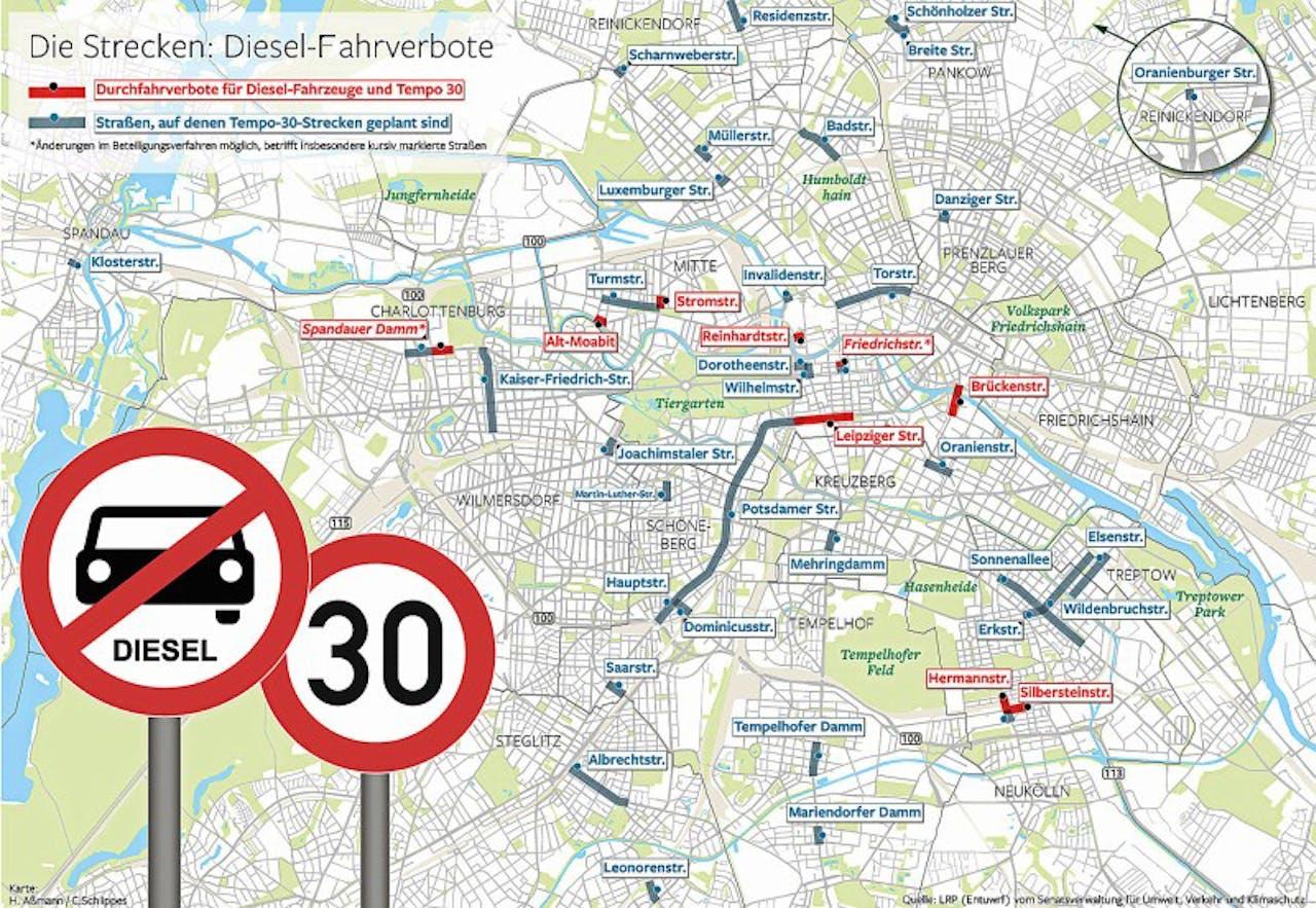 Dieselfahrverbot Zonen Berlin
