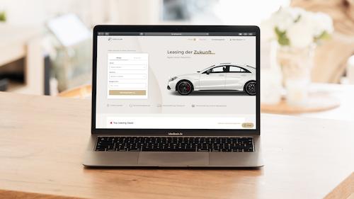 Digitales Leasing mit VEHICULUM; VEHICULUM Website auf einem Macbook