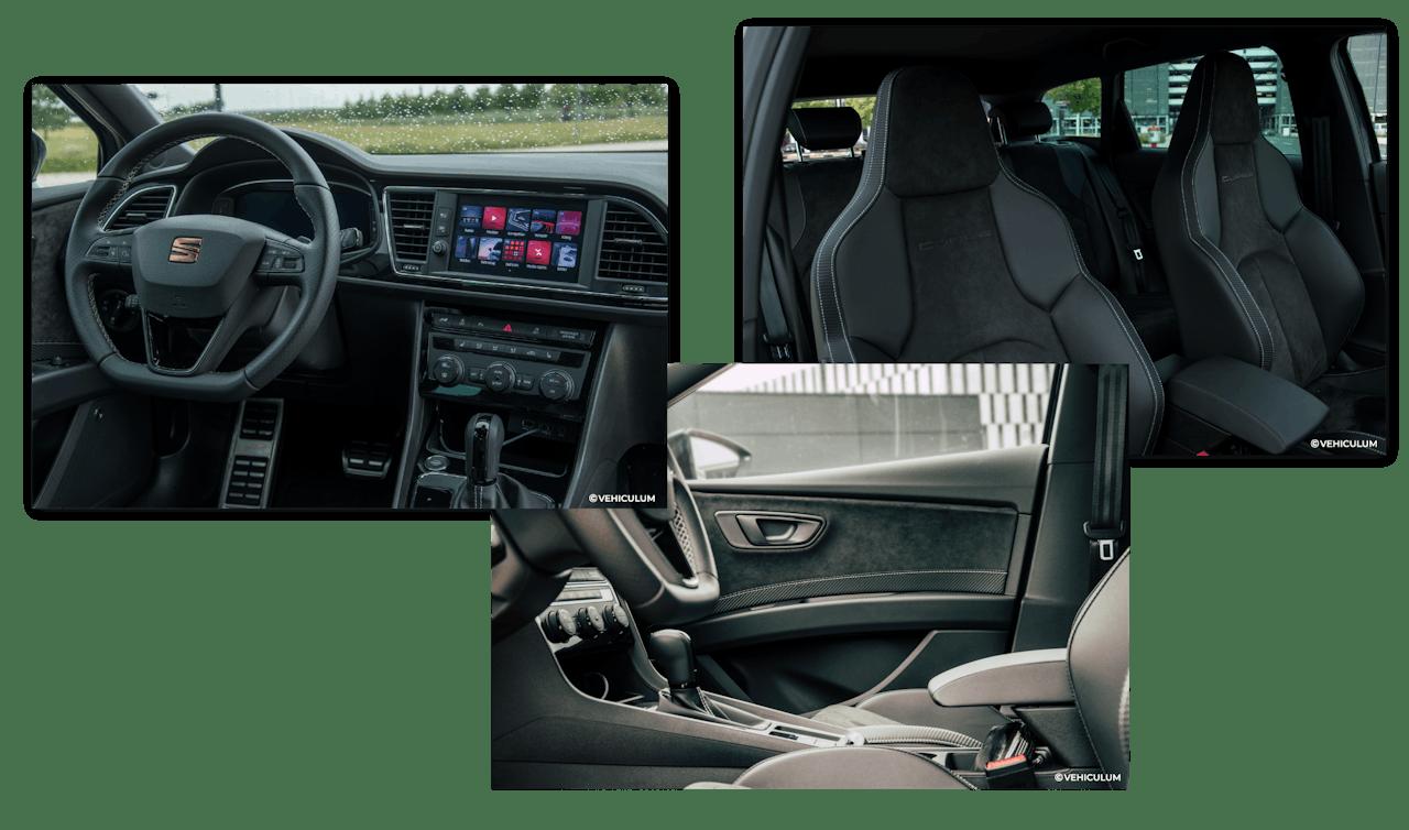 Innenansicht des Seat Leon ST Cupra