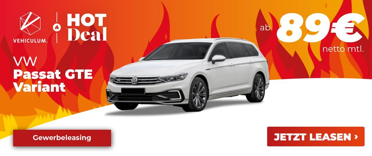 VW Passat GTE Leasing Deal Banner