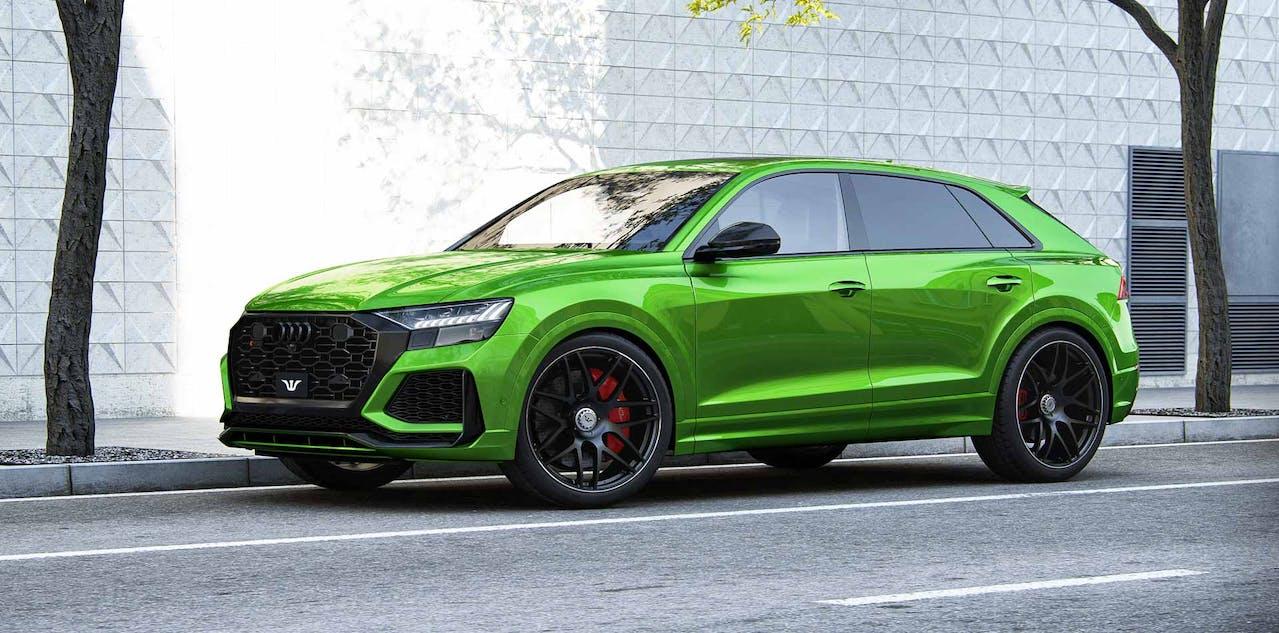 """Audi RS Q8 Tuning """"Goliath"""". Seitliche Ansicht mit 24 Zoll Felgen und über 1.000 PS. VEHICULUM Autovorstellungen News"""