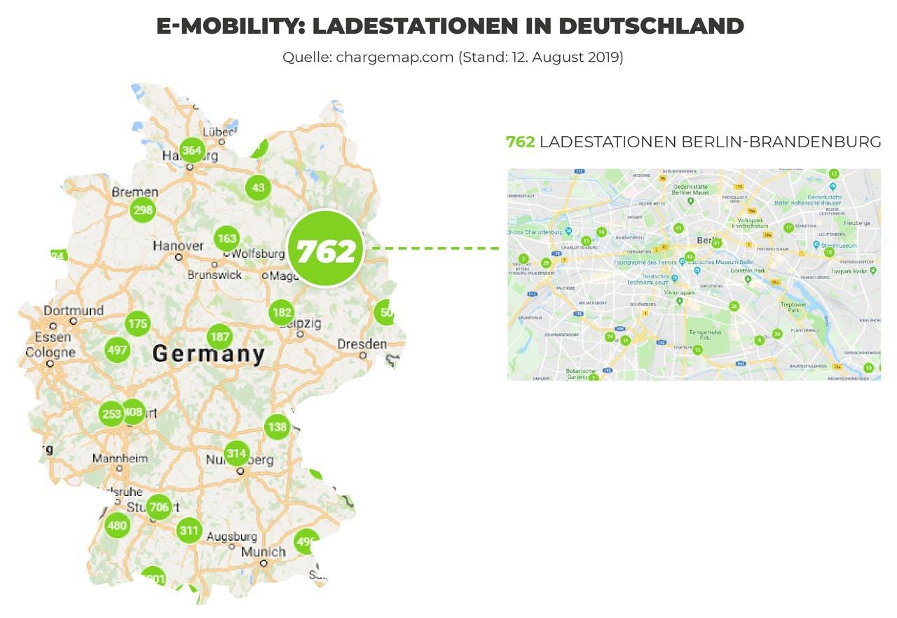 E-Mobility: Ladestationen in Deutschland