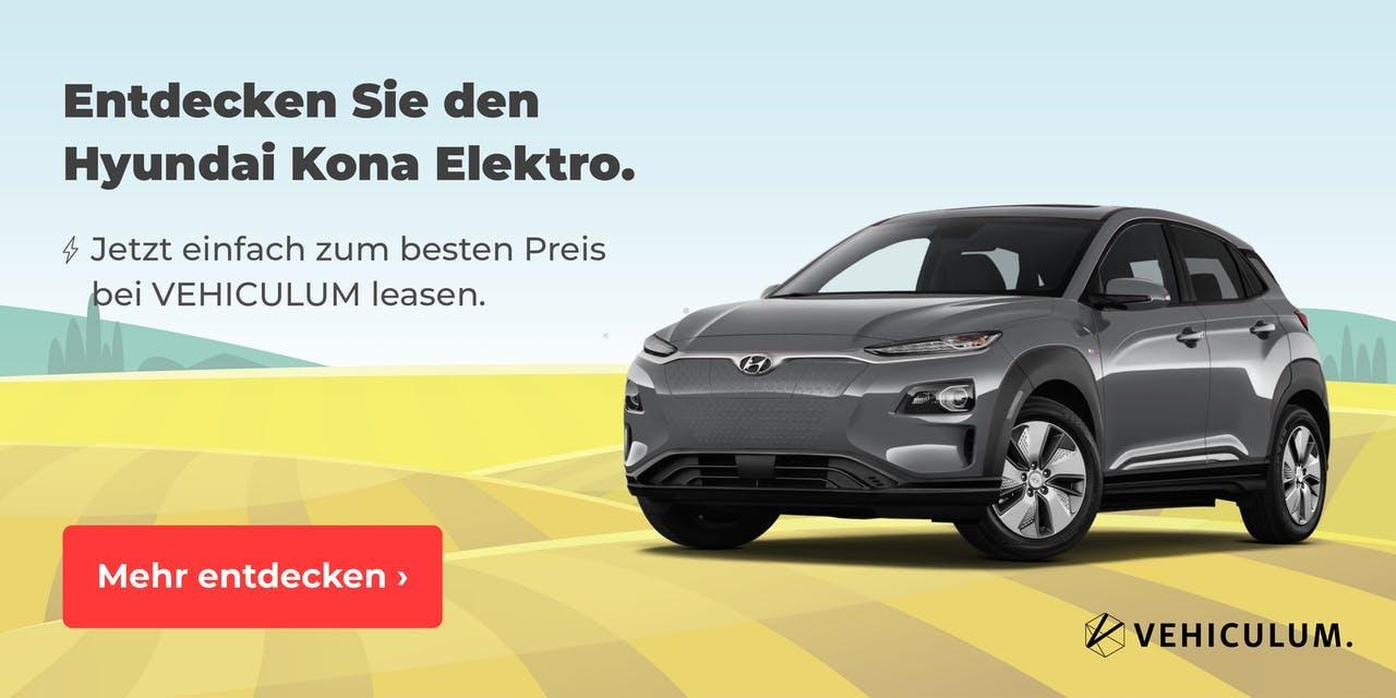 Hyundai Kona Elektro Leasing Angebote bei VEHICULUM
