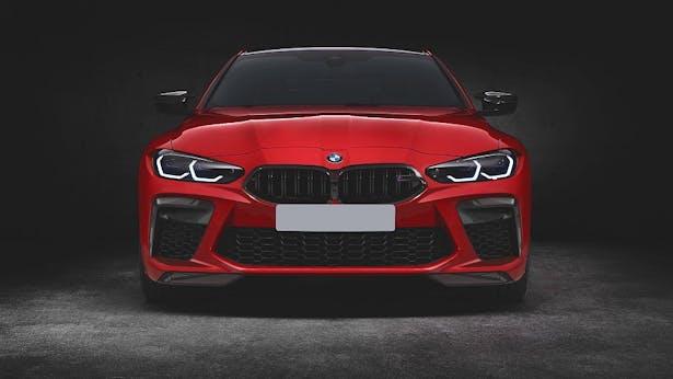 BMW M4 in der Frontansicht ohne Riesenniere durch Bodykit von Prior Design