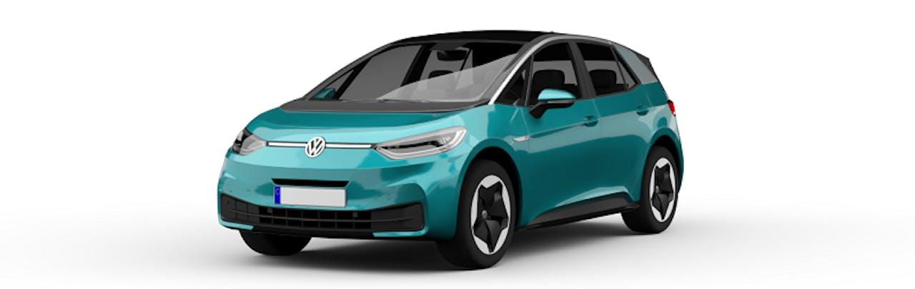VW ID.3 in Türkiser Farbe