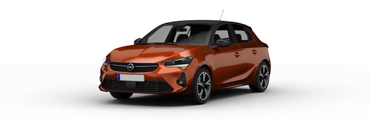 Opel Corsa-e in Orange/Bronze