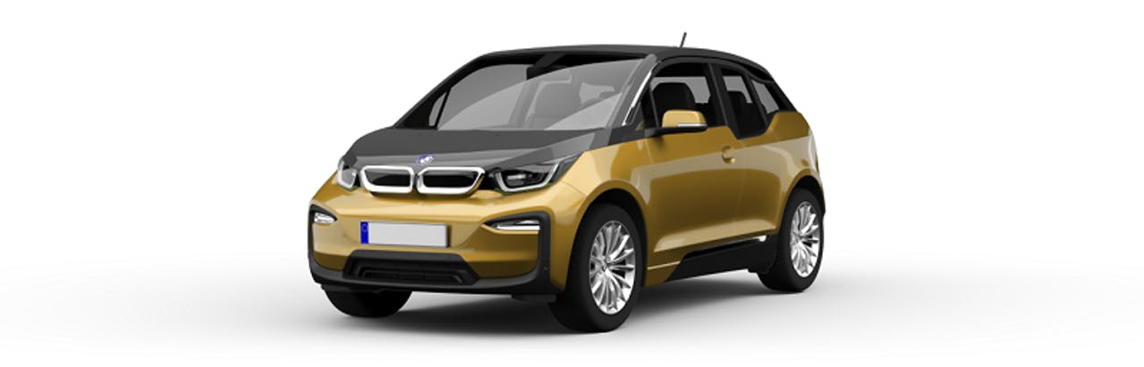 BMW i3 in gold