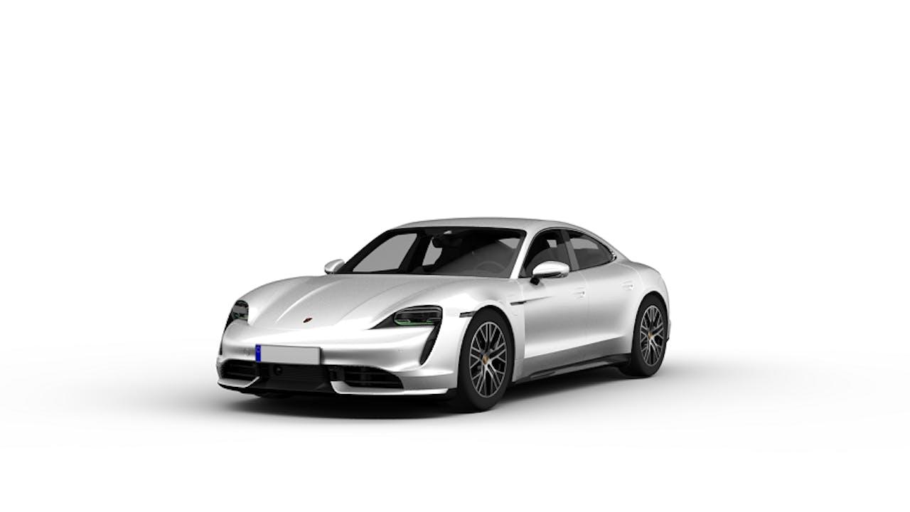 Porsche Taycan silber