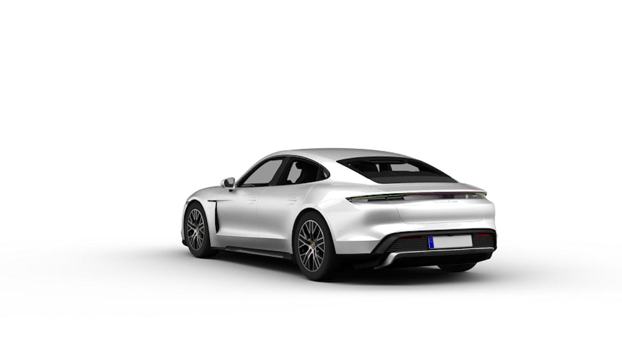 Rückansicht Porsche Taycan Turbo S