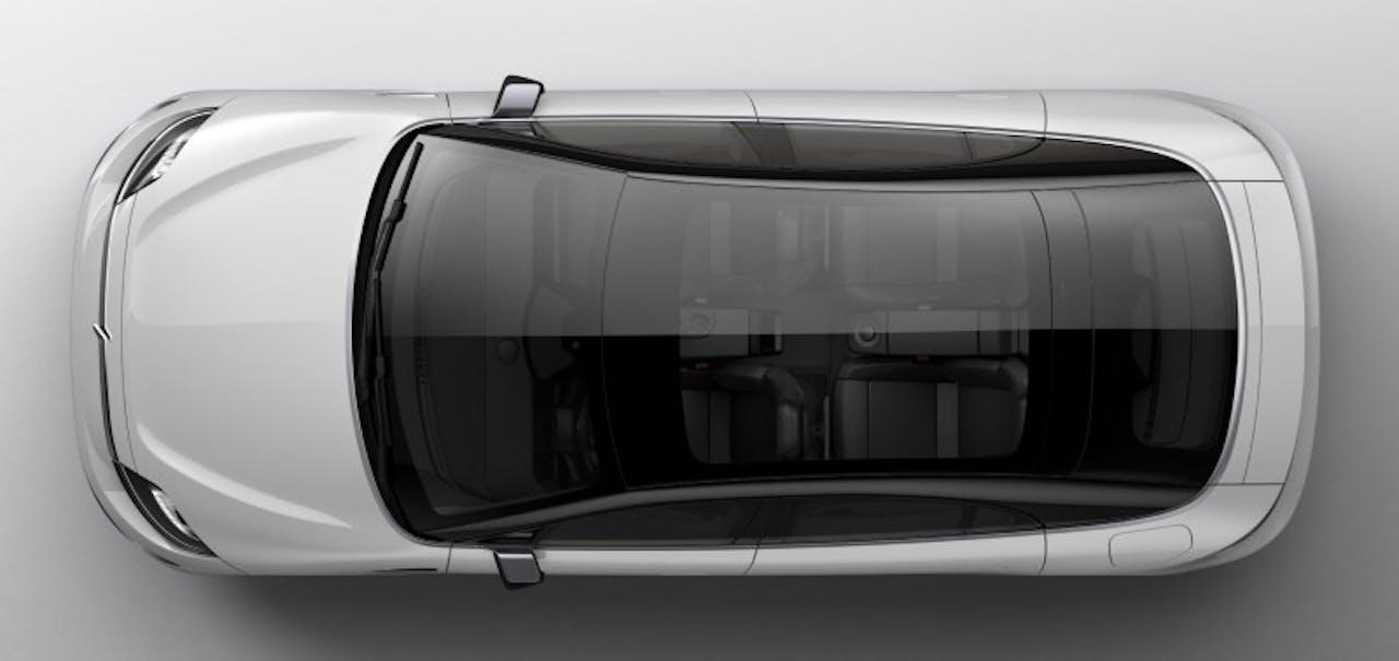 Sony: Vision-S, Vogelperspektive auf Panorama-Glasdach