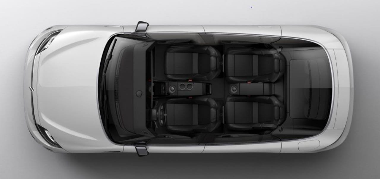Sony: Vision-S, Vogelperspektive ohne Dach ins Wageninnere