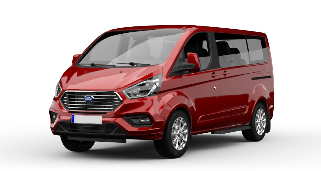 Ford Tourneo Custom in Rot