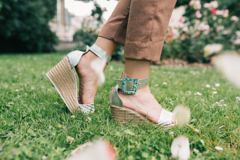 ladies sandal, wedge sandals, silver sandals, gold sandals