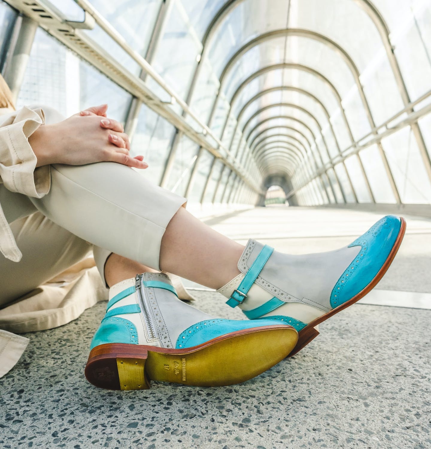 Women's colourful ankle boots by Melvin & Hamilton