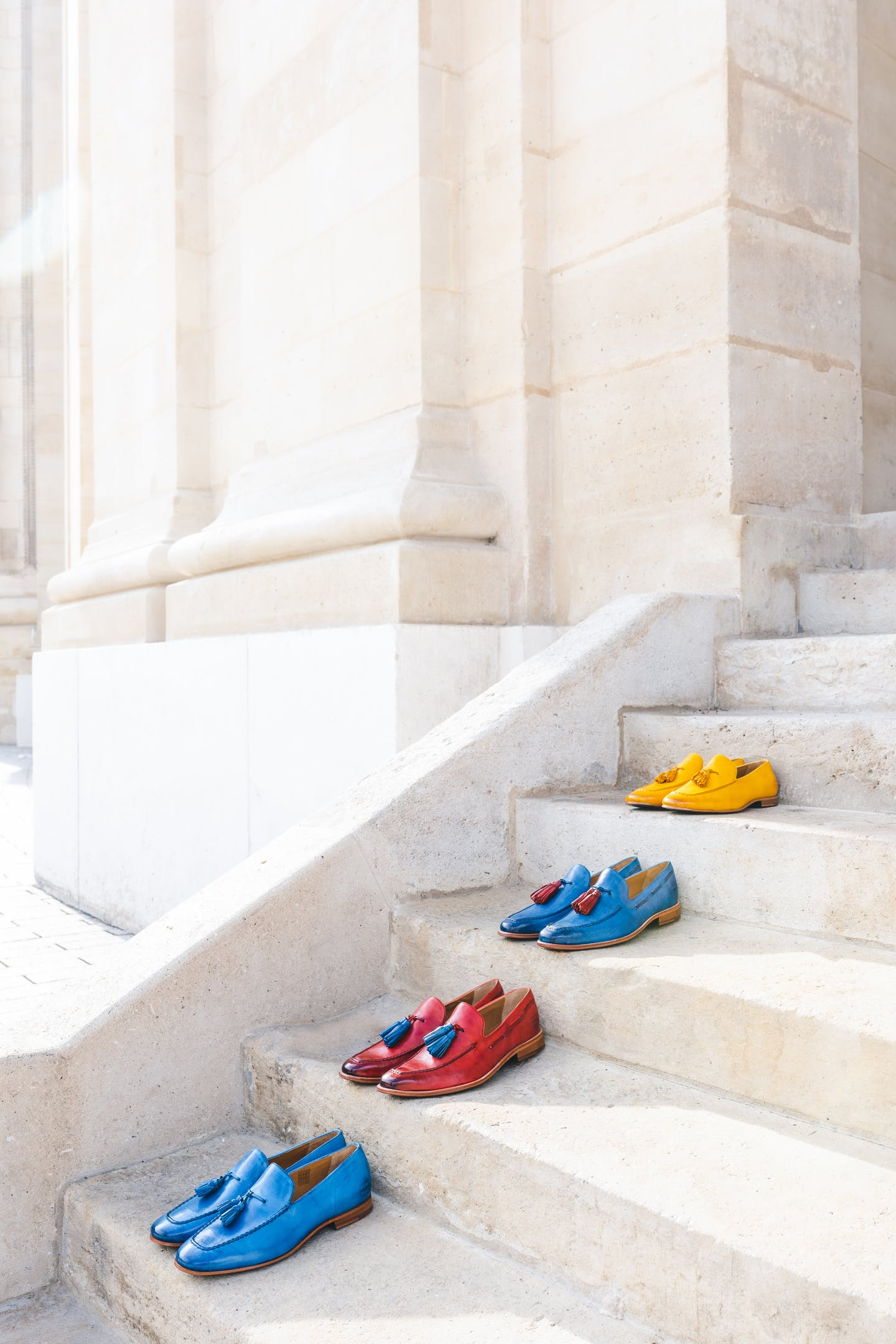 Men's colourful loafers by Melvin & Hamilton