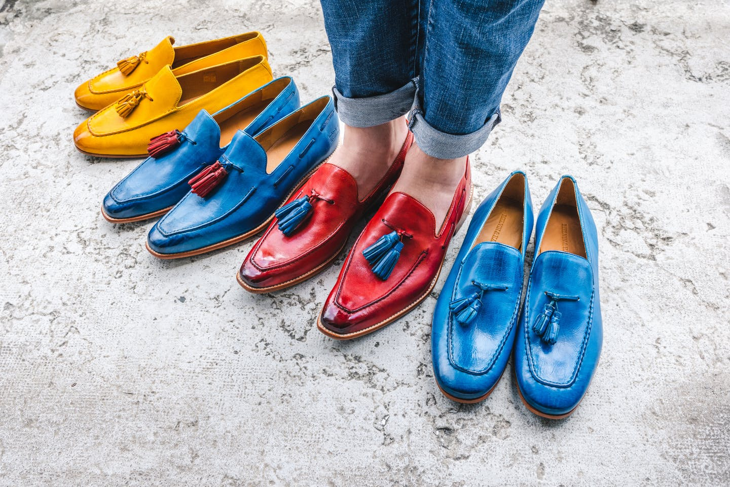 Colourful Shoes by Melvin & Hamilton