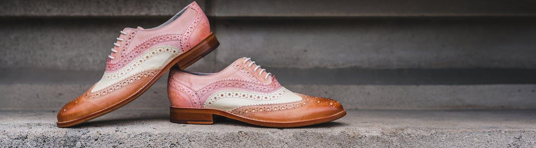 Pastel coloured shoes by Melvin & Hamilton