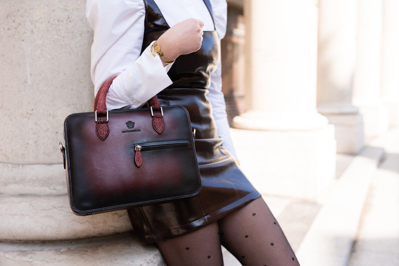 Leather handbag Vancouver Melvin & Hamilton
