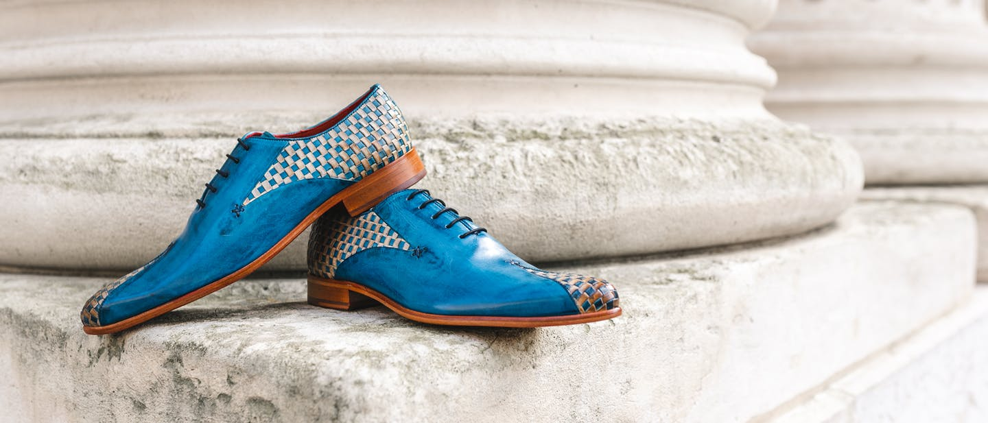 Interlaced leather shoes Melvin & Hamilton