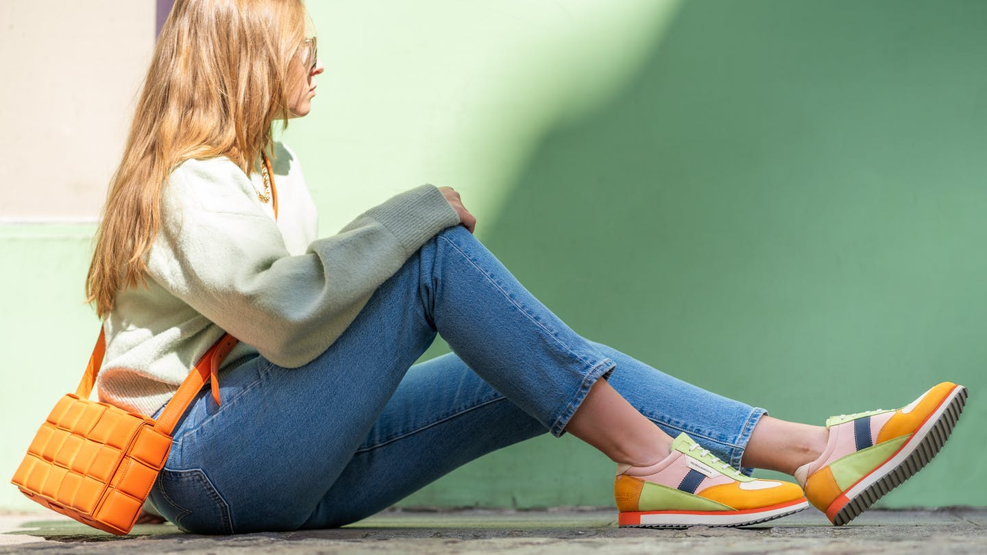 Women's colourful leather sneakers Melvin & Hamilton