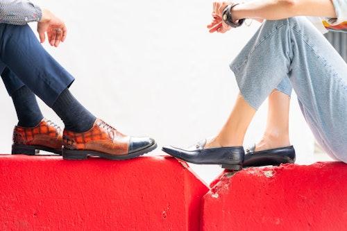 Leather shoes Melvin & Hamilton