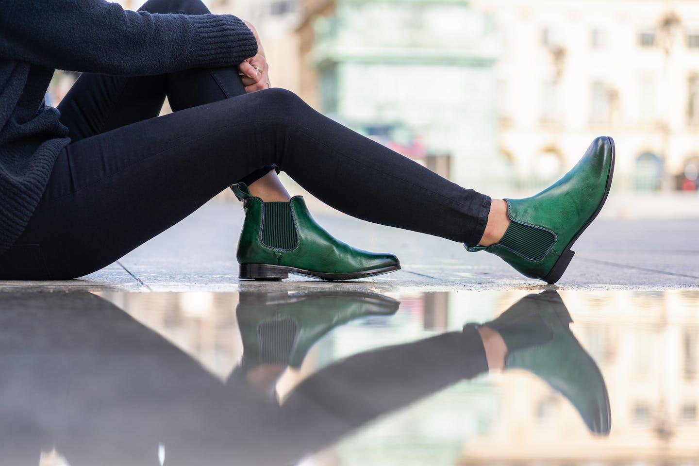 Green shoes Melvin & Hamilton