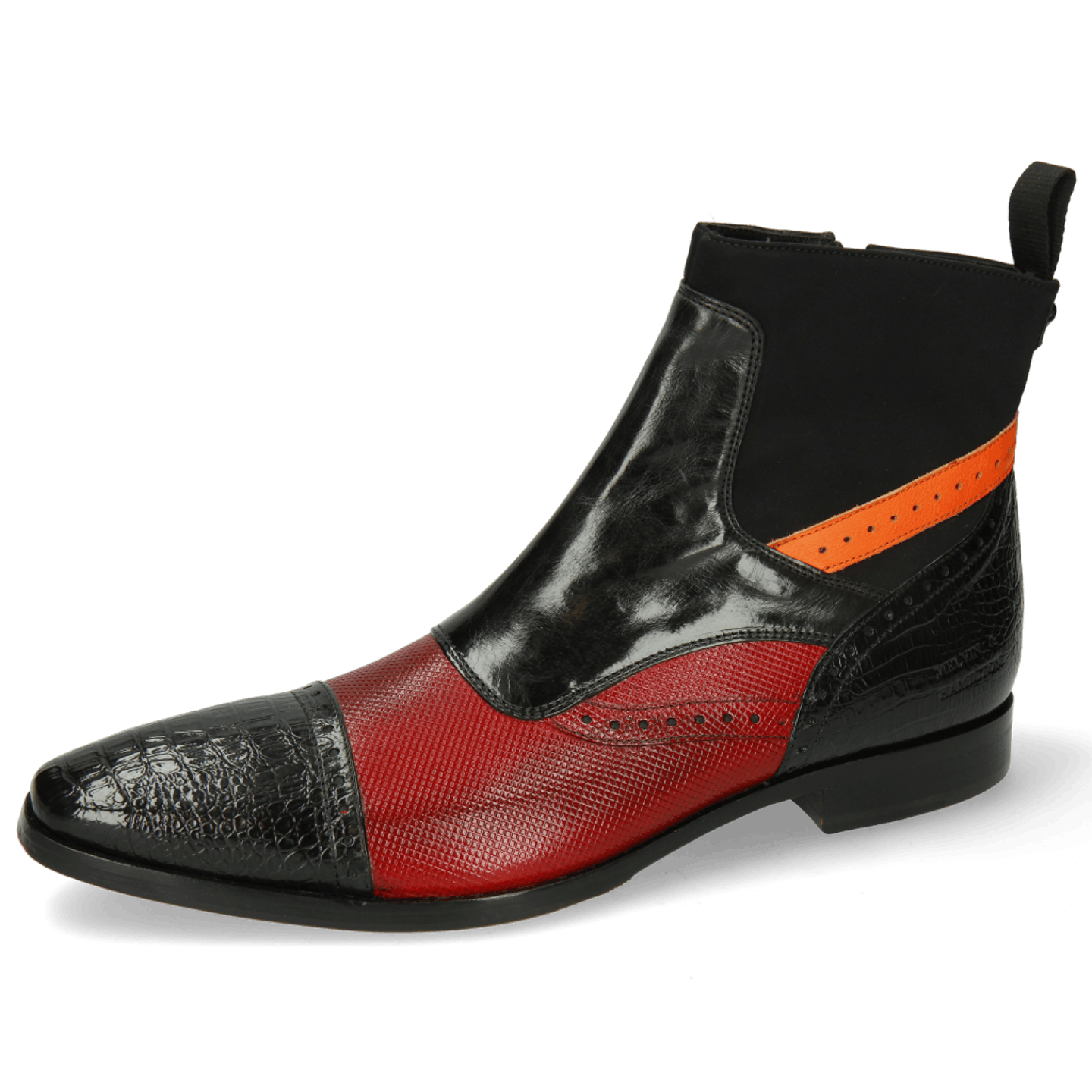 Elvis 74 Baby Croco Black Dice Red Fluo Orange