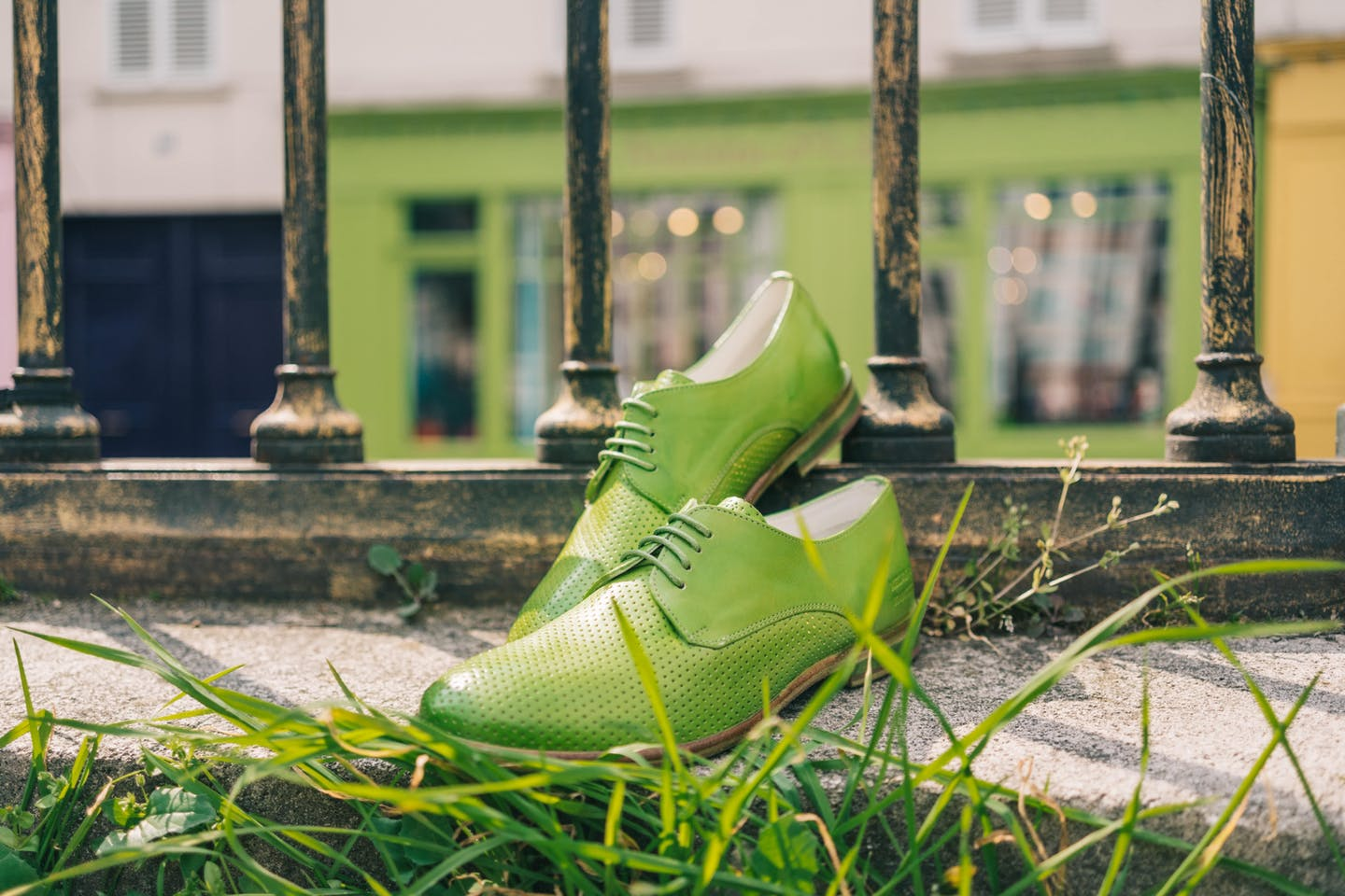 Lime green derby shoes Jenny 8 - Melvin & Hamilton