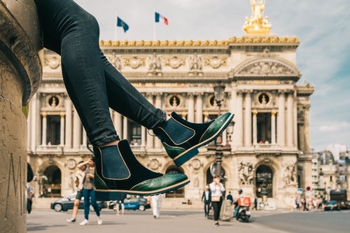 Emerald green ankle boots Amelie 43 - Melvin & Hamilton